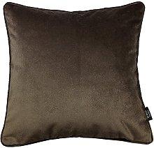 McAlister Textiles Velvet Mocha Brown 49cm Filled