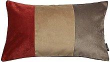 McAlister Textiles Velvet Patchwork 60x40cm Pillow