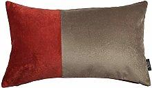 McAlister Textiles Velvet Patchwork Rust Red +