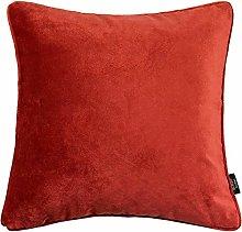 McAlister Textiles Velvet Rust Orange Red 60cm