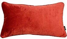 McAlister Textiles Velvet Rust Orange Red 60x40cm