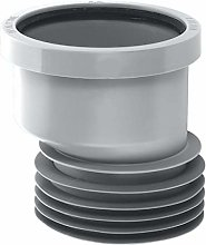 "McAlpine 4""/110mm Gray Offset Drain Connector"