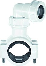 McAlpine CLAMP1WH Pipe Clamp, White