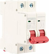 MCB Safety Breaker, 2P Mini Circuit Breaker, 63A