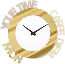 Mccardle Wall Clock Ebern Designs Colour: Gold