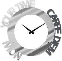 Mccardle Wall Clock Ebern Designs Colour: Silver