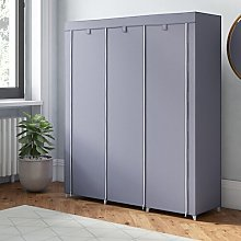 Mccarley Canvas 150cm Wide Portable Wardrobe