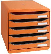 Mcginnis Desk Organiser Symple Stuff Colour: Orange