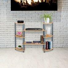 Mcgriff Bookcase Rebrilliant Colour: Grey/Beige