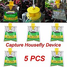 Mcottage 5 Pcs Disposable Fly Trap Non Toxic