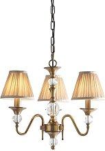 Mcveigh 3-Light Shaded Chandelier Astoria Grand