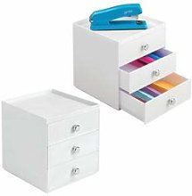 mDesign 2 pc. Set Office Supplies Desk Drawer