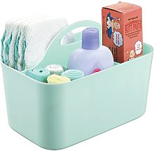 mDesign 4 Compartment Nursery Basket with Handles