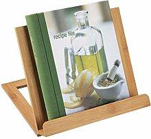 mDesign Bamboo Adjustable Cookbook Holder Stand