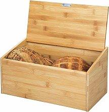 mDesign Bamboo Bread Bin for Kitchen - Kitchen
