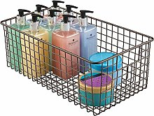 mDesign Bathroom Basket for Cosmetics Storage –