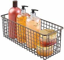 mDesign Bathroom Basket for Cosmetics Storage –