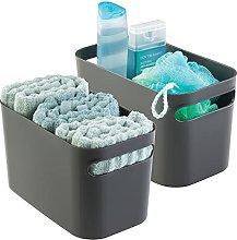 mDesign Bathroom Basket - Storage for Shower