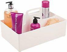 mDesign Bathroom Basket with Handle – Extra