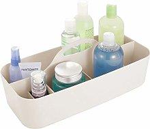 mDesign Bathroom Basket with Handles – Extra