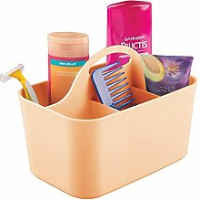 mDesign Bathroom Basket with Handles - Ideal as