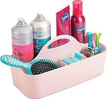 mDesign Bathroom Basket with Handles – Large