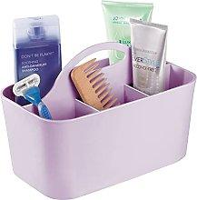 mDesign Bathroom Basket with Handles – Small