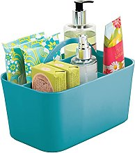 mDesign Bathroom Basket with Handles – Small