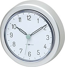 mDesign Bathroom Clock With Suction Cup -