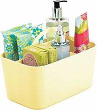 mDesign Bathroom Storage Box with Handle –