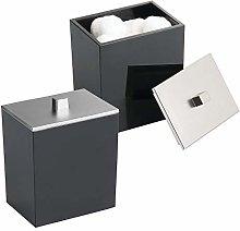mDesign Bathroom Vanity Canister Jar for Cotton