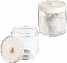 mDesign Bathroom Vanity Glass Storage Organizer
