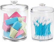 mDesign Bathrooom Vanity Canister Jars for Cotton