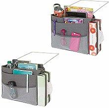 mDesign Bedside Storage Caddy - Set of 2 -