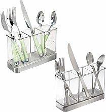 mDesign Cutlery Basket for Knives, Forks, Spoons -
