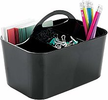 mDesign Desk Organiser in Black (Small) - Perfect