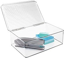 mDesign Desk Organiser - Transparent Desk