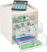 mDesign Desk Tidy – Desktop Drawers for Pens,