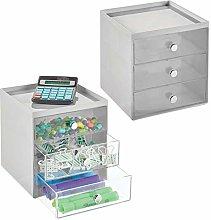 mDesign Desk Tidy – Desktop Drawers for Pens,