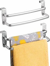 mDesign Double Tea Towel Holder for Hanging Over
