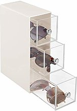 mDesign Drawer Box — Glasses Holder with 3