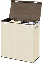 mDesign Extra Large Divided Laundry Hamper Basket