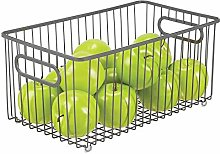 mDesign Extra Large Wire Basket with Handles —
