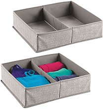 mDesign Fabric Dresser Drawer Inserts