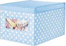 mDesign Fabric Storage Box with Polka Dots –