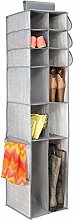mDesign Fabric Wardrobe Organiser - Wall Mounted