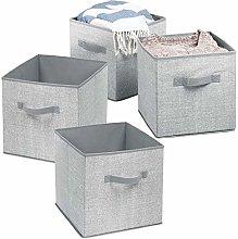 mDesign Fabric Wardrobe Storage Organiser Cube for