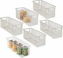 mDesign Farmhouse Decor Metal Wire Food Storage