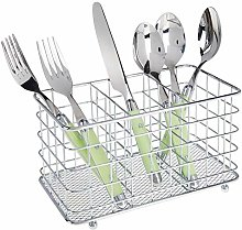 mDesign Farmhouse Modern Metal Wire Cutlery and