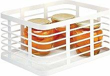 mDesign Farmhouse Wire Storage Basket — Wire